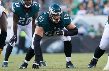 Sep 25, 2016; Philadelphia, PA, USA; Philadelphia Eagles tackle Lane Johnson (65) in action against the Pittsburgh Steelers at Lincoln Financial Field. The Philadelphia Eagles won 34-3. Mandatory Credit: Bill Streicher-USA TODAY Sports